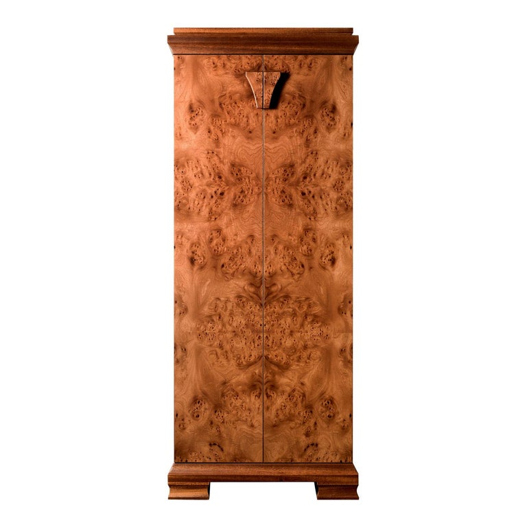 For Sale: Brown (Briar Wood) Agresti Gioia Jewelry Armoire