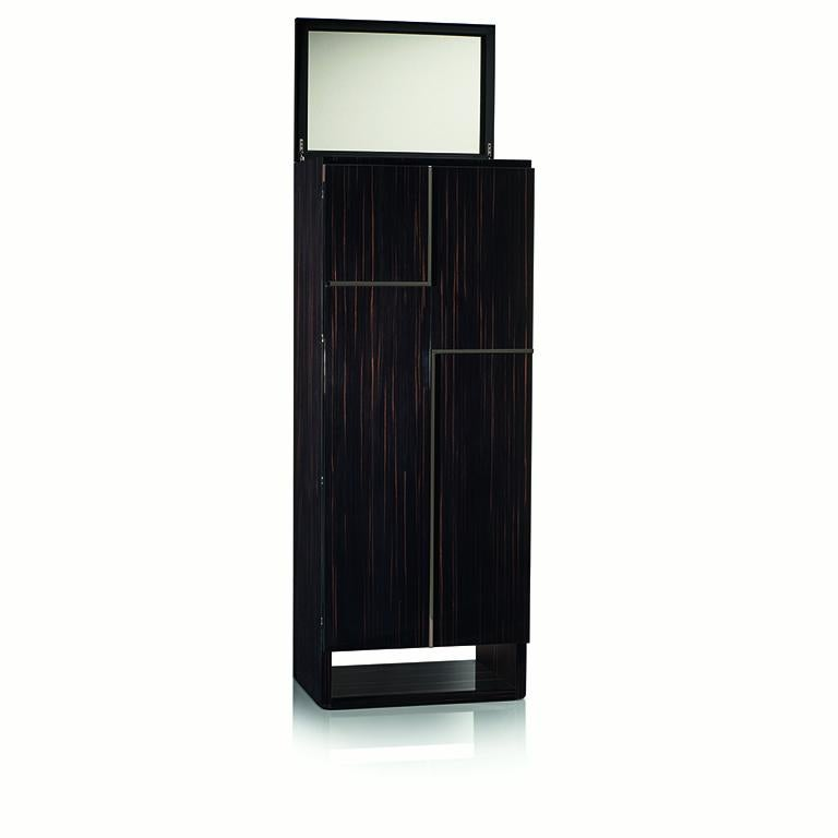 Italian Agresti Gioia Rutenio Contemporary Armored Jewelry Armoire Safe in Ebony  For Sale