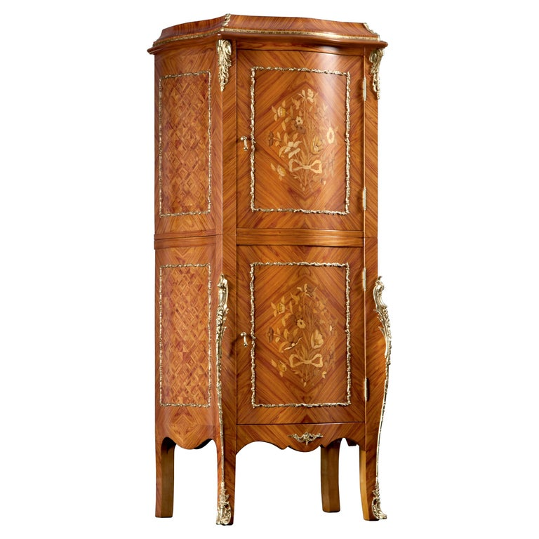 Agresti Grand Palais Louis XV Armored Armoire For Sale