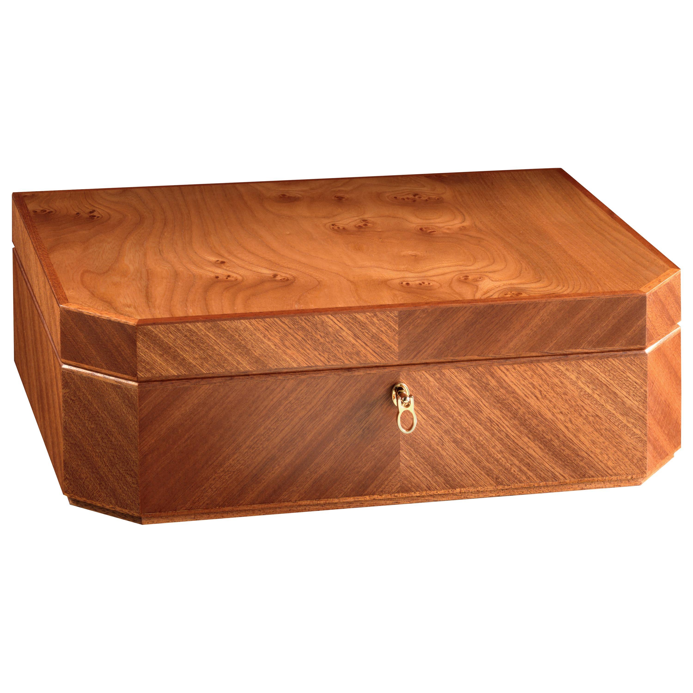 Agresti Il Bauletto Jewelry Box in Briar and Mahogany