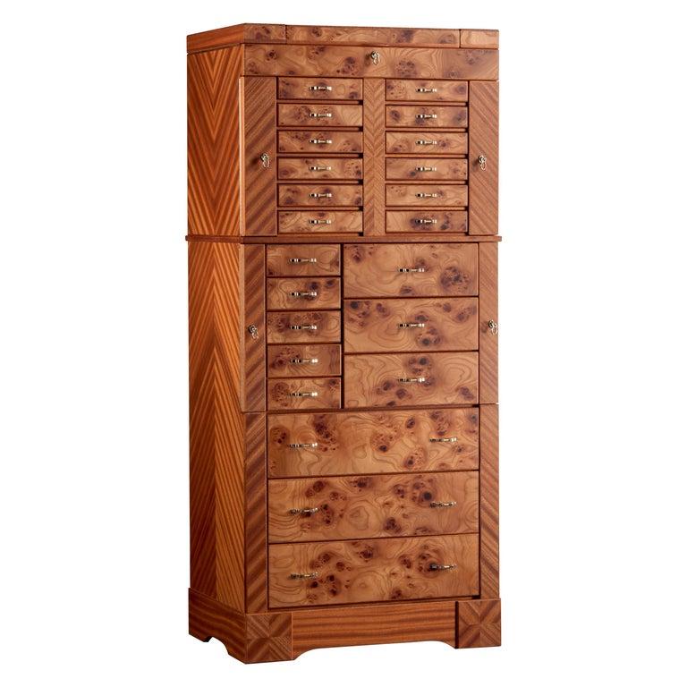 For Sale: Brown (Briar Wood) Agresti Il Grande Scrigno Jewelry Armoire