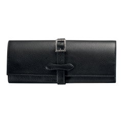 Agresti Il Rollo Dell'oro Jewelry Roll in Black Leather