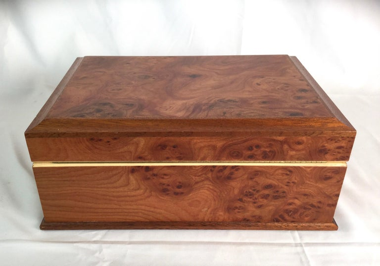 20th Century Agresti Italian Briarwood Jewelry Box For Sale