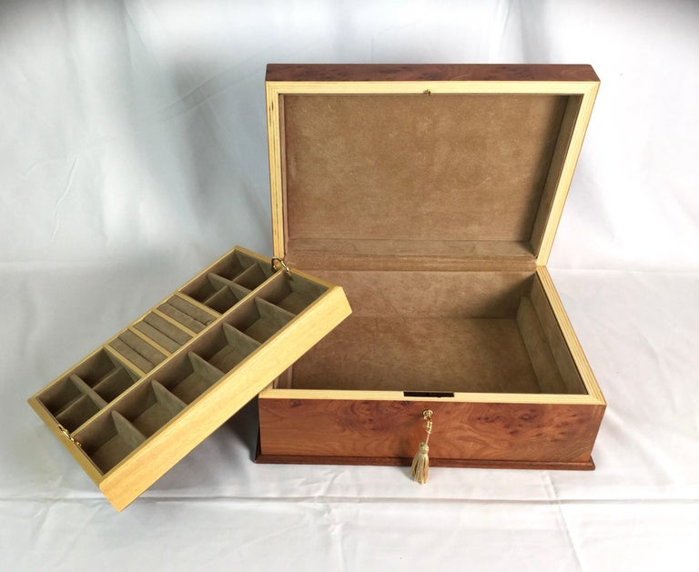 Agresti Italian Briarwood Jewelry Box For Sale 1