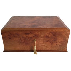 Agresti Italian Briarwood Jewelry Box
