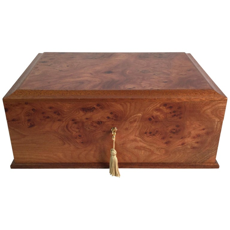 Agresti Italian Briarwood Jewelry Box For Sale