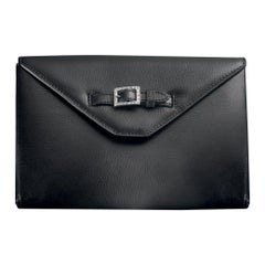 Agresti La Busta Dell'oro Jewelry Purse in Black Leather