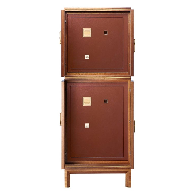 For Sale: Brown (Briar Wood) Agresti Magia Double Jewelry Armoire