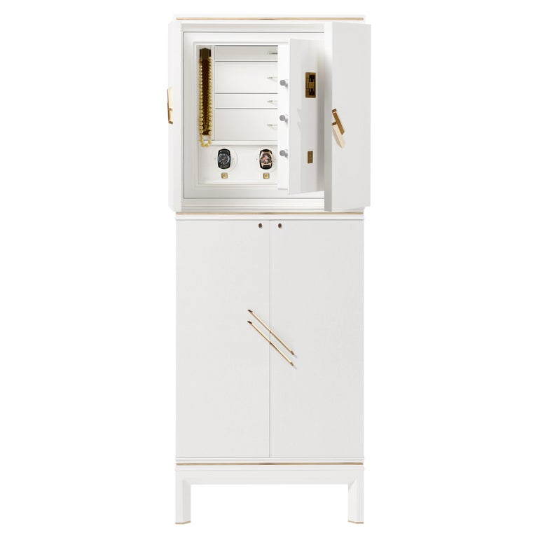 For Sale: White (White Bird's Eye Maple) Agresti Magia Winder Jewelry Armoire