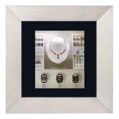 Agresti Mirror of Enchantment White Wall Safe with Watch Winders