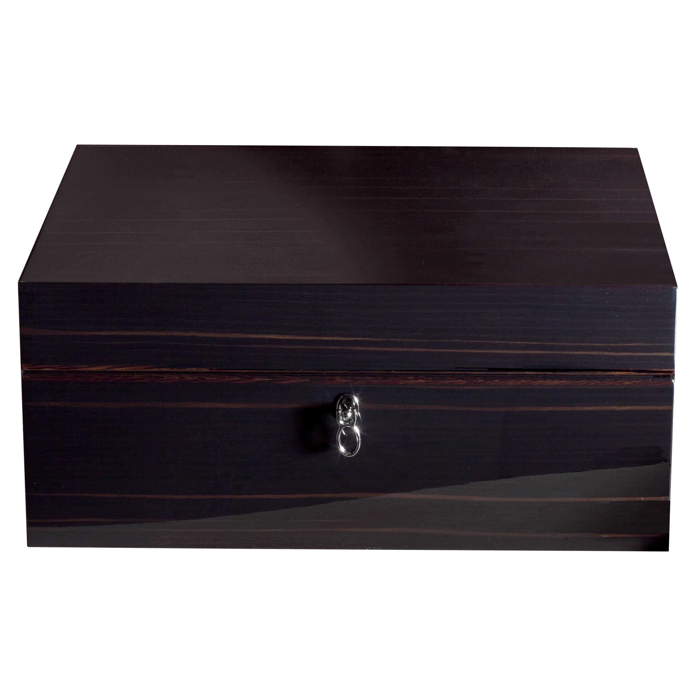 Agresti Notte Di Gioie Shiny Black Men's Jewelry Box