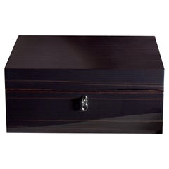 Agresti Notte Di Gioie Shiny Black Men's Jewelry Box