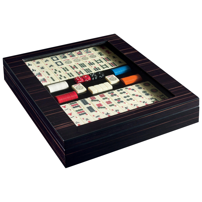 Agresti Passione Di Gioco Black Mahjong Mah-Jongg Game in Polished Ebony