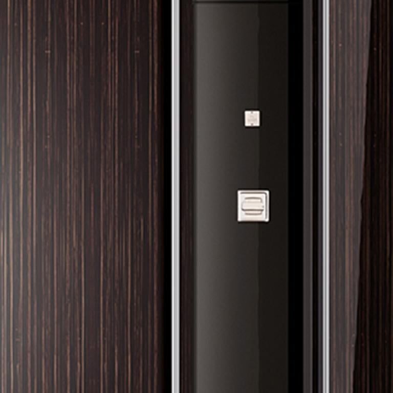 Polished Agresti Solo Lui Black Armoire with 18 Watch Winders For Sale