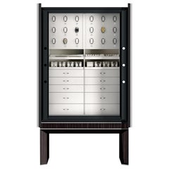 Agresti Solo Lui Black Armoire with 18 Watch Winders