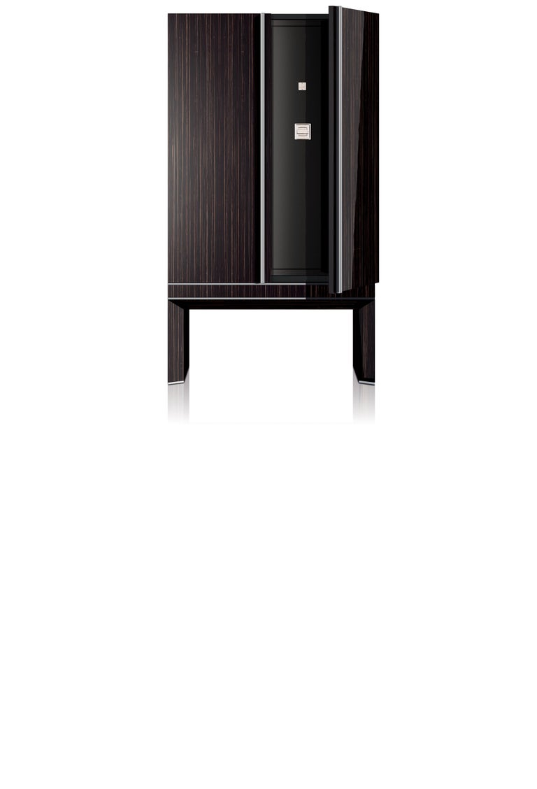 Agresti Solo Lui Black Armoire with 36 Watch Winders For Sale 1