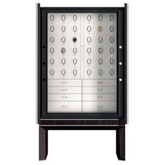 Agresti Solo Lui Black Armoire with 36 Watch Winders