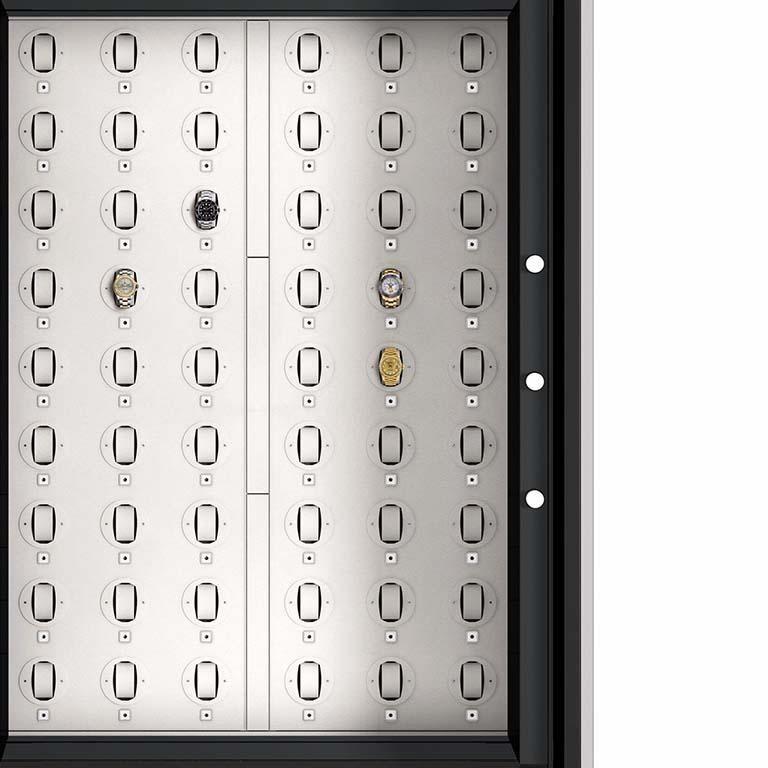 Italian Agresti Solo Lui Black Armoire with 54 Watch Winders For Sale