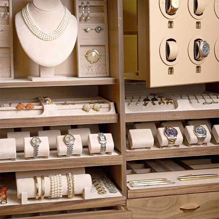 Agresti White Lei Lui Armoire in Birdseye Maple  For Sale 6