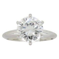 AGS Certified 1.50 Carat Round Brilliant Cut Diamond Engagement Ring