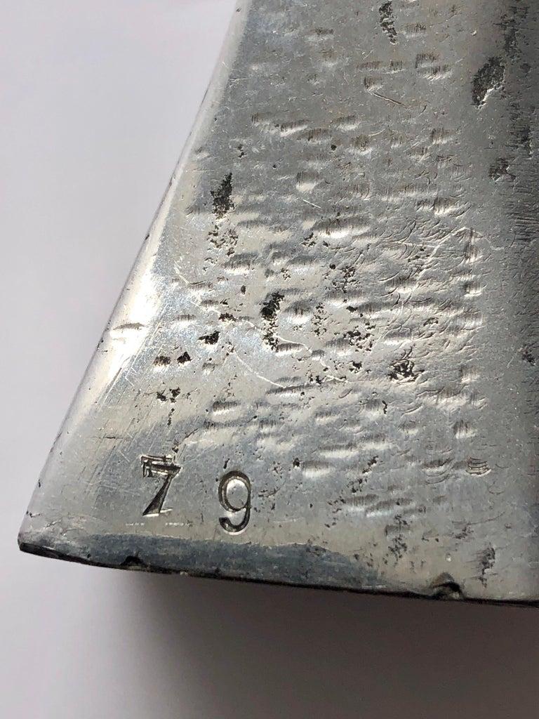 Aharon Bezalel Israeli Modernist Sculpture 2 Parts Minimalist Aluminum or Steel  For Sale 11