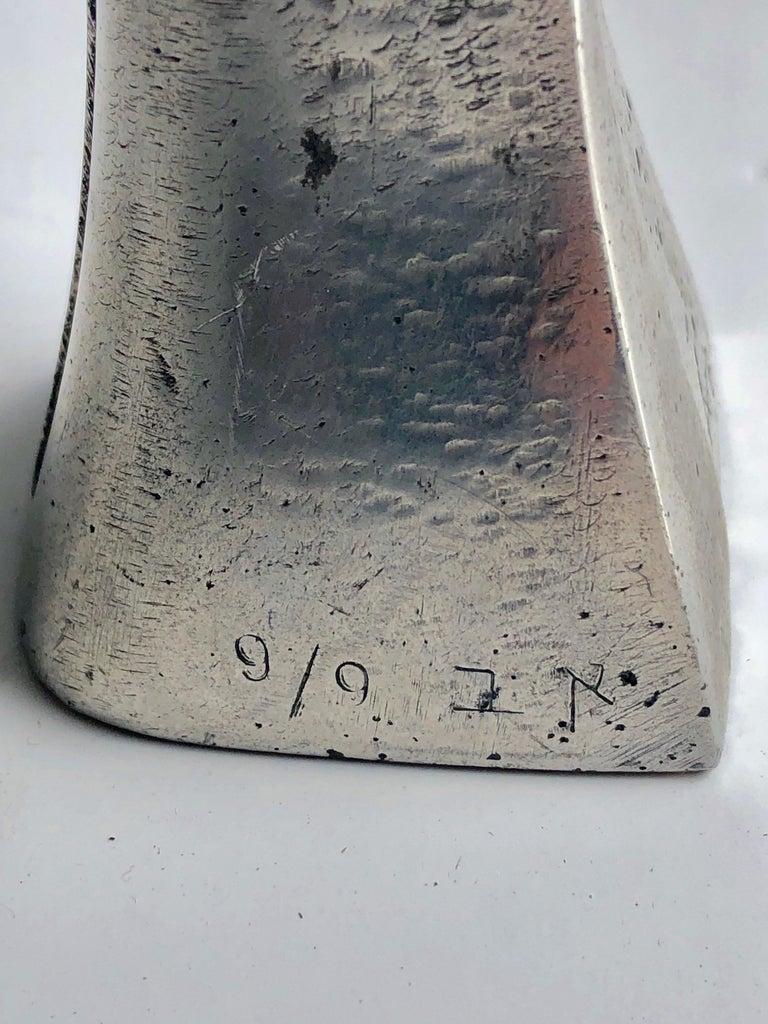 Aharon Bezalel Israeli Modernist Sculpture 2 Parts Minimalist Aluminum or Steel  For Sale 12