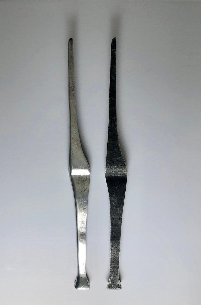 Aharon Bezalel Israeli Modernist Sculpture 2 Parts Minimalist Aluminum or Steel  For Sale 5
