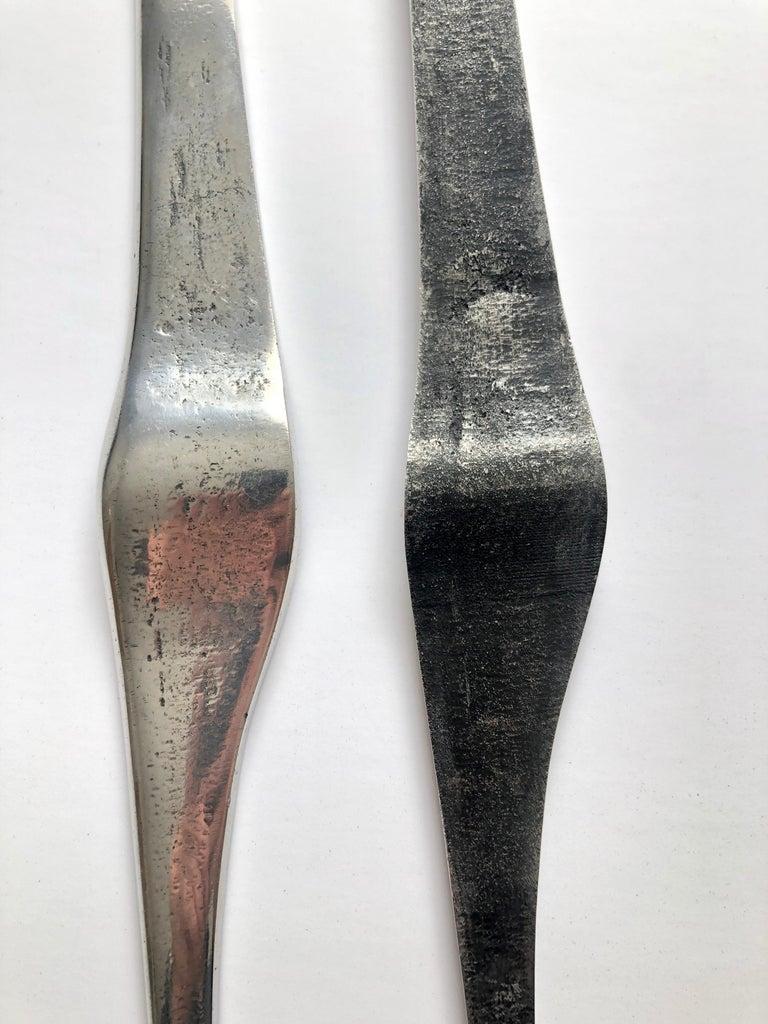 Aharon Bezalel Israeli Modernist Sculpture 2 Parts Minimalist Aluminum or Steel  For Sale 3