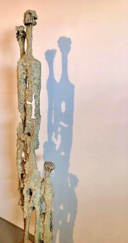 Rare Large Aharon Bezalel Israeli Modernist Unique Bronze Brutalist Sculpture  For Sale 5