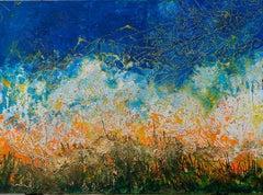 """""""Bridges of Beauty"""" Mixed media Painting 57"""" x 79"""" inch by Ahmed Farid"""