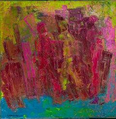 """Inimitable Spirit"" Mixed media Painting 31"" x 31"" inch by Ahmed Farid"