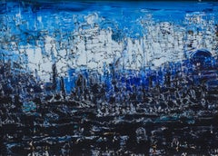 """""""Restless Universe"""" Mixed media Painting 20"""" x 28"""" inch by Ahmed Farid"""