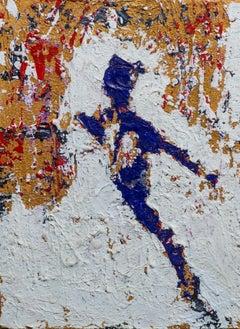 """""""Serenity I"""" Mixed media Painting 16"""" x 12"""" inch by Ahmed Farid"""