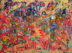 """""""Untitled"""" Mixed Media on canvas 59"""" x 75"""" inch by Ahmed Farid"""
