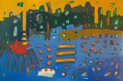 """Stimulus II"" Painting 39"" x 47"" inch by Ahmed Gaafary"