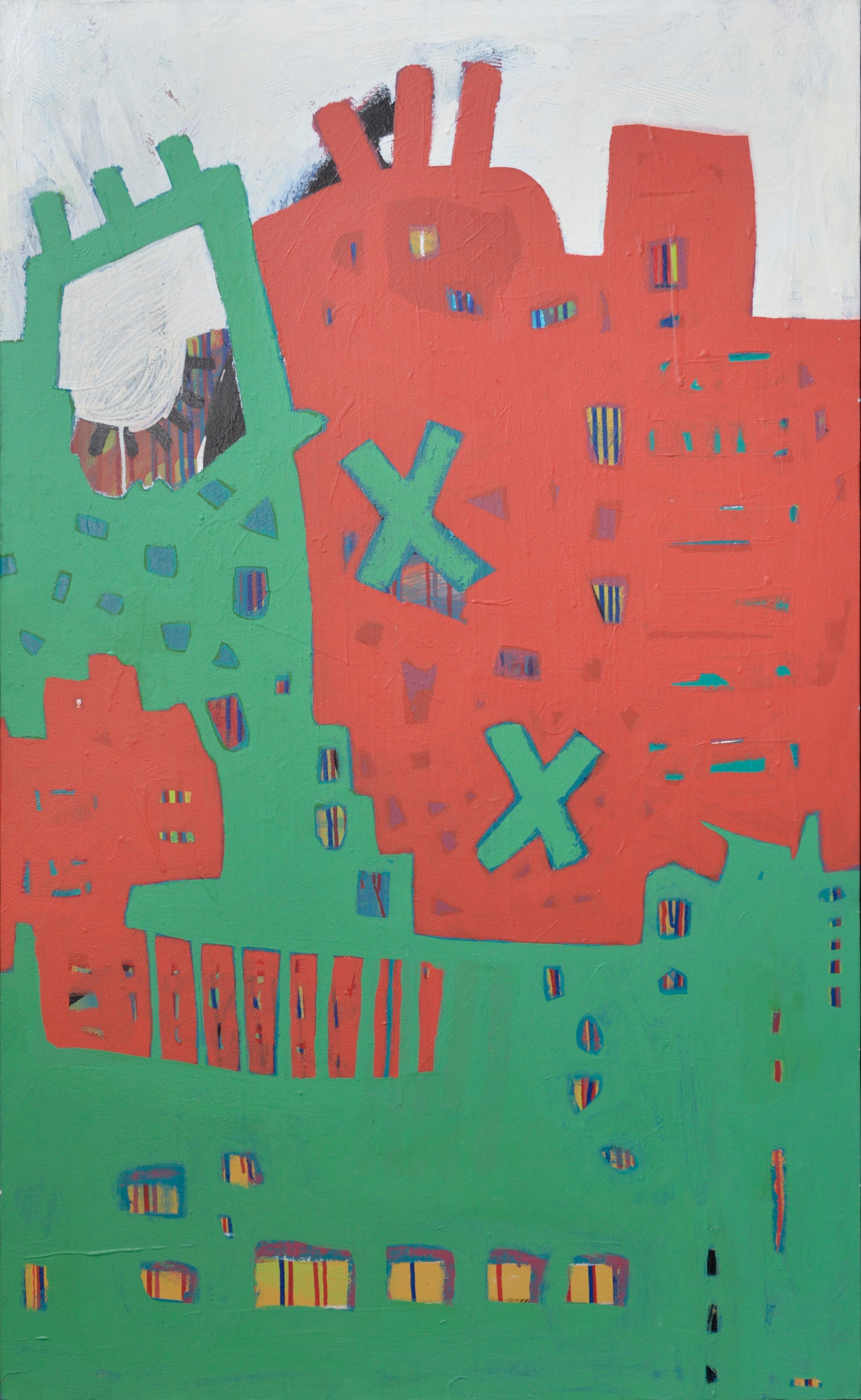 """Universal Communication II"" Acrylic Painting 49"" x 33"" inch by Ahmed Gaafary"
