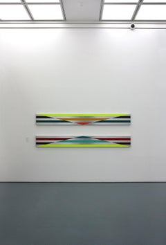 a310810, Unfolded Lines, Large-scale Abstract Painting on aluminium