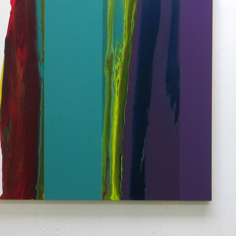"""d0709-4 is an artwork by contemporary artist Ahn Hyun-Ju which is part of the """"Dripping"""" series. In this series of abstract paintings the artist is toying with the technique of dripping which she combines with color fields. What intrigues her about"""