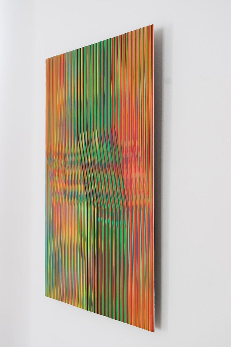 Line 1213-14 by Ahn Hyun-Ju - Abstract painting, minimalism, bright colors For Sale 2