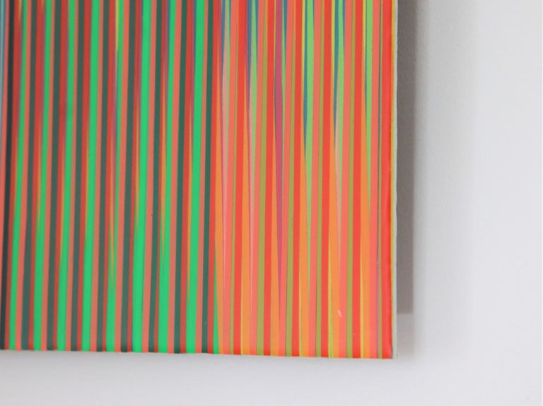 Line 1213-14 by Ahn Hyun-Ju - Abstract painting, minimalism, bright colors For Sale 3