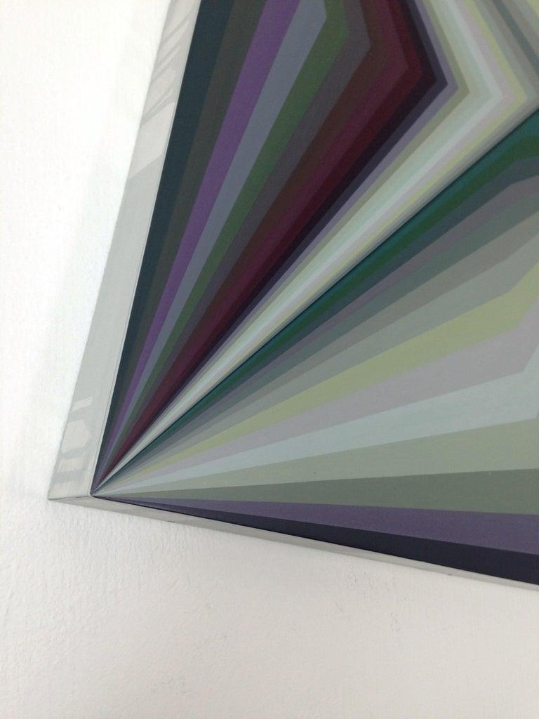 Moebius 10, Geometric Abstract Painting - Contemporary Mixed Media Art by Ahn Hyun-Ju