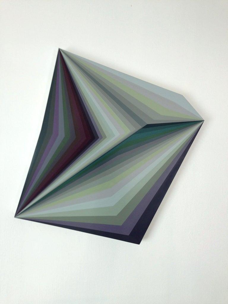 Moebius 10, Geometric Abstract Painting - Mixed Media Art by Ahn Hyun-Ju