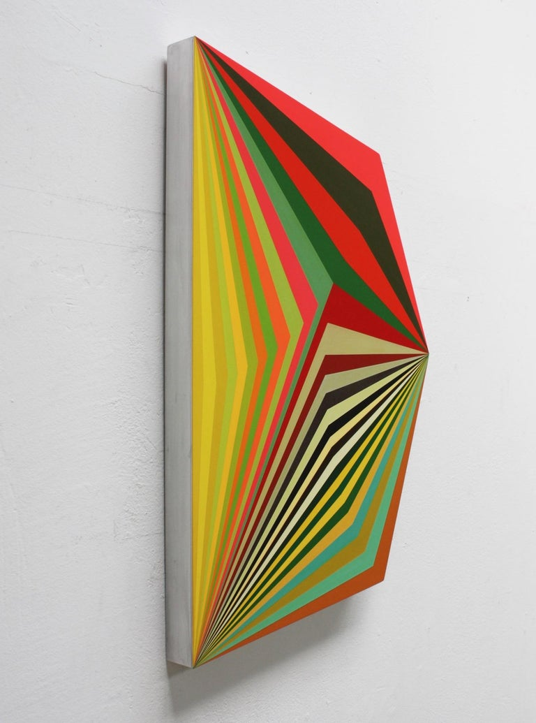Moebius #9 - 3 Dimensional Geometric Abstract Painting - Contemporary Mixed Media Art by Ahn Hyun-Ju
