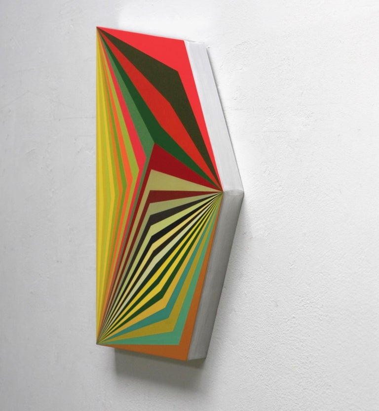 Moebius #9 - 3 Dimensional Geometric Abstract Painting For Sale 1