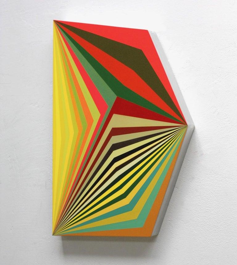 Moebius #9 - 3 Dimensional Geometric Abstract Painting - Mixed Media Art by Ahn Hyun-Ju