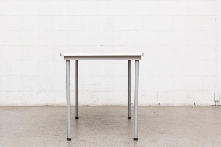 Mid-Century Modern Ahrend de Cirkel Industrial Metal Table For Sale