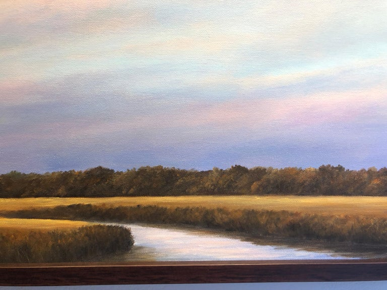 A Creek Runs Through it - Original Oil Painting with Dramatic Sky and Landscape 4