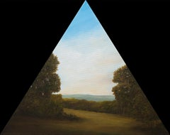 """Cutting Through, View of The Valley "", Contemporary, Landscape, Custom, Frame"