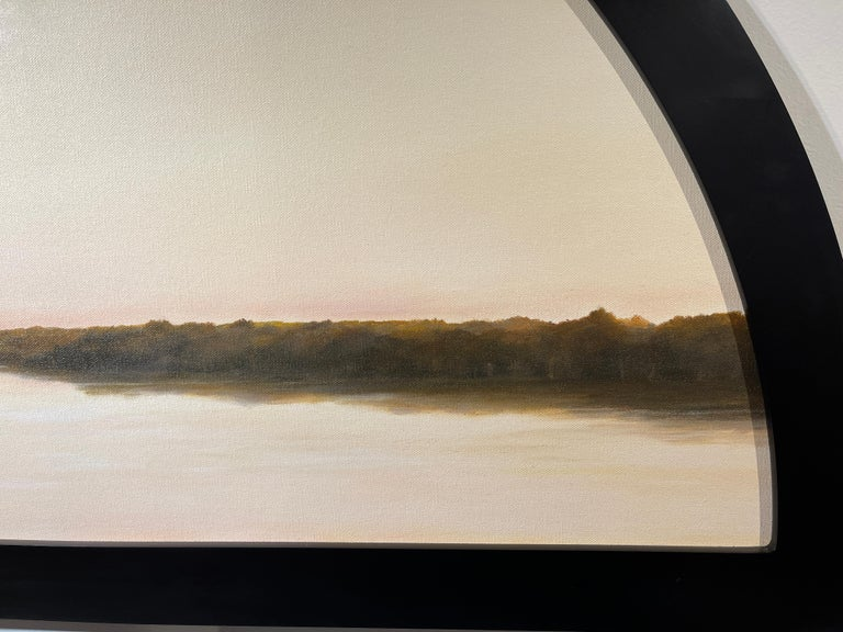 Morning on the Kankakee - Original Oil Painting with Dramatic Sky and Landscape For Sale 1