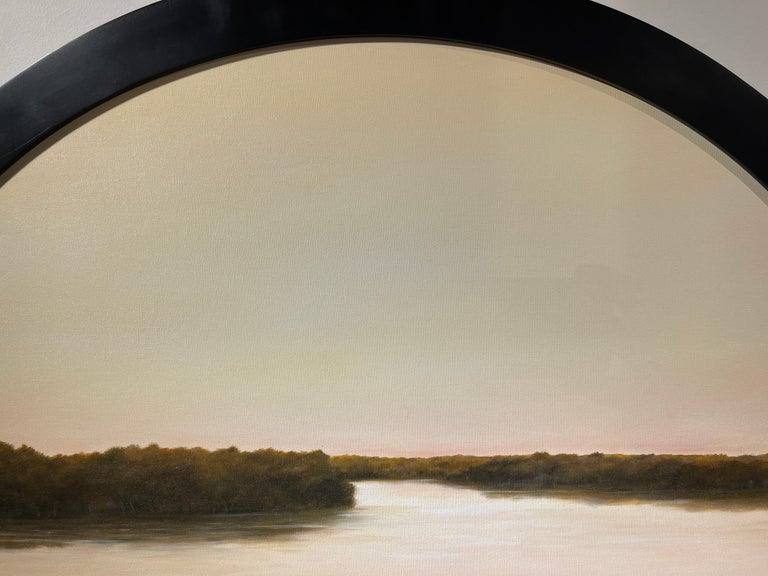 Morning on the Kankakee - Original Oil Painting with Dramatic Sky and Landscape For Sale 2
